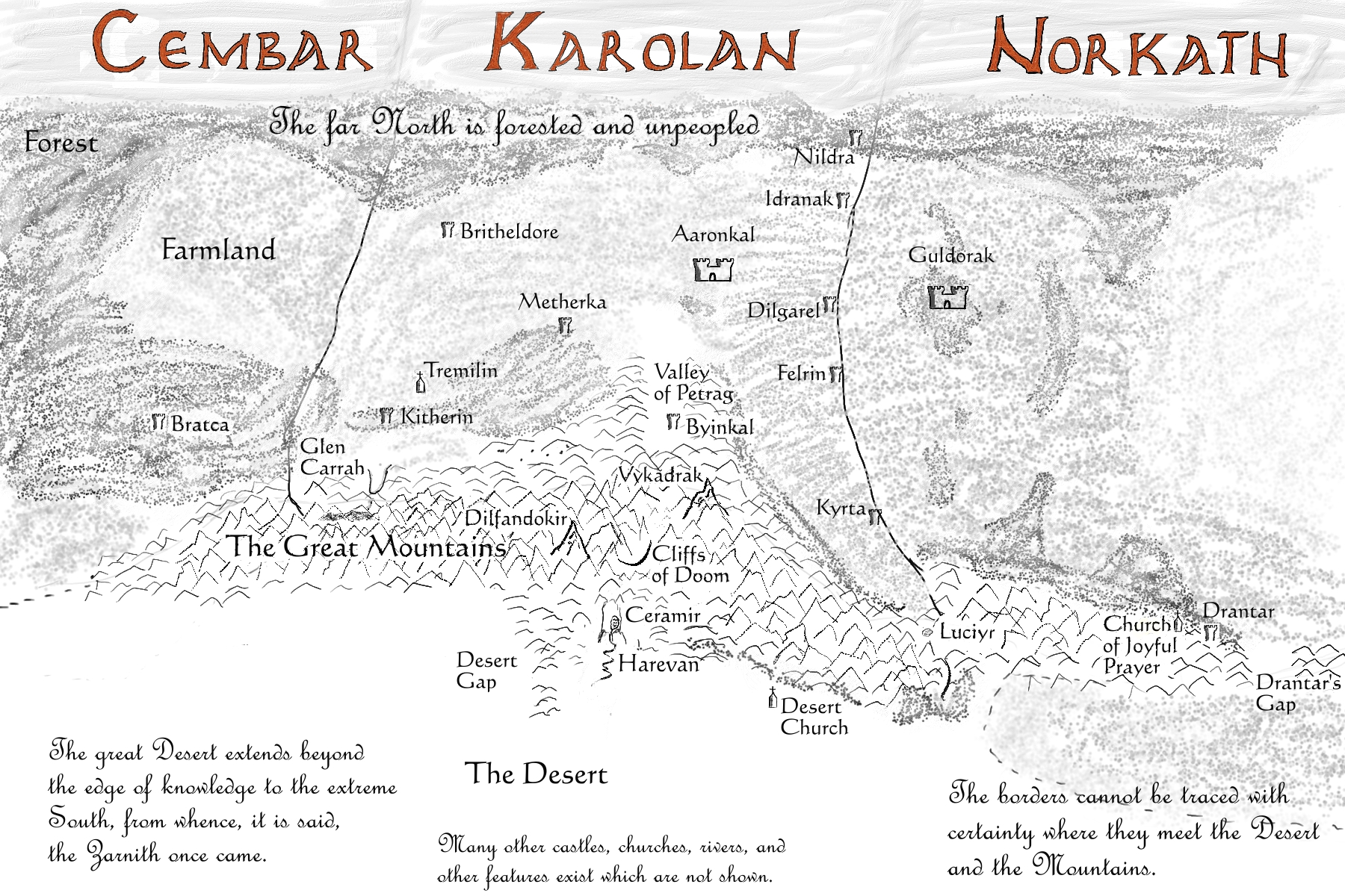 The Epic of Karolan: The World of the Story Sword Of Truth Series Map on